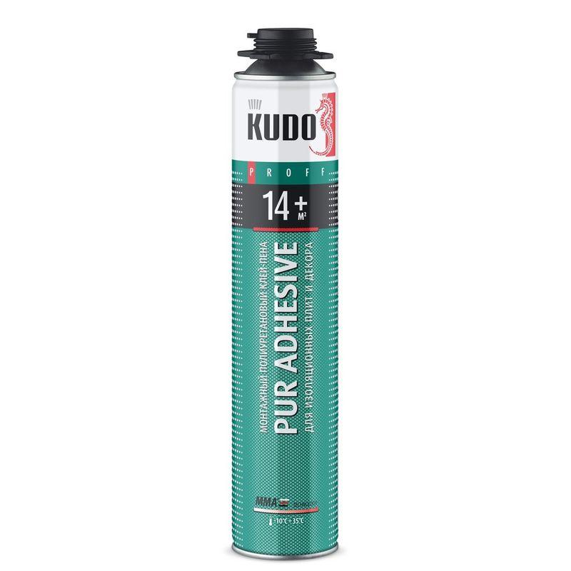 Купить со скидкой Клей-пена монтажная KUDO Proff 14+, профессиональная, всесезонная, 1000 мл