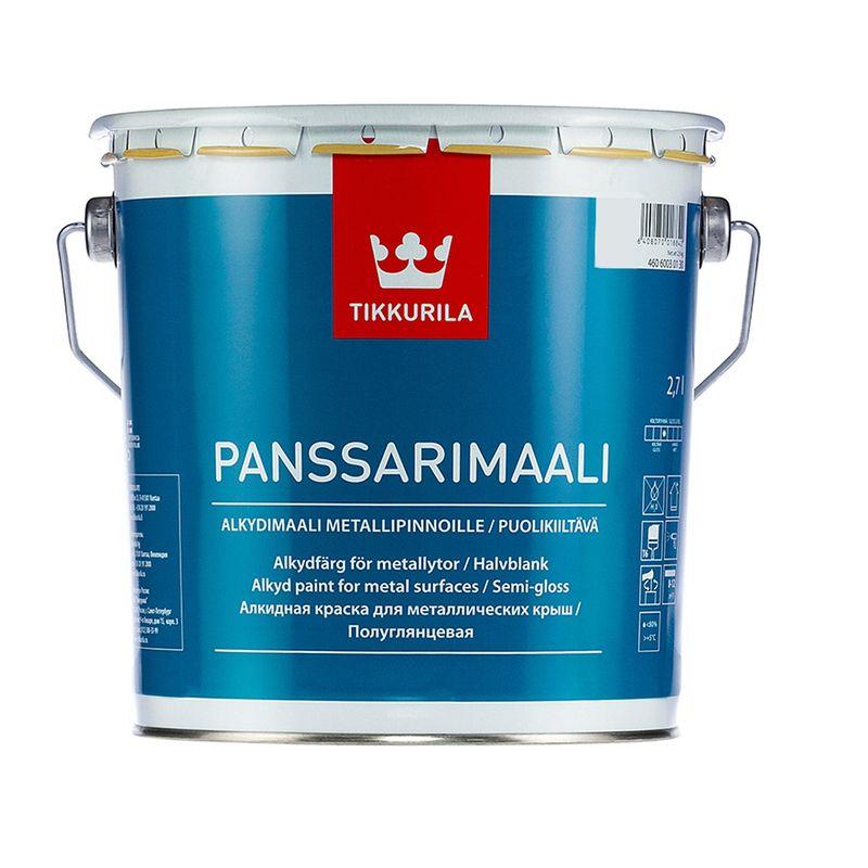 Краска Tikkurila Panssarimaali для крыш и металла база А 2.7л фото