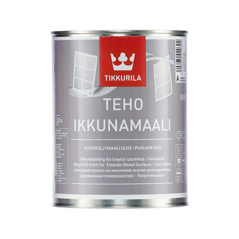 Краска Tikkurila Teho Ikkunamaali для окон база А 0.9л фото