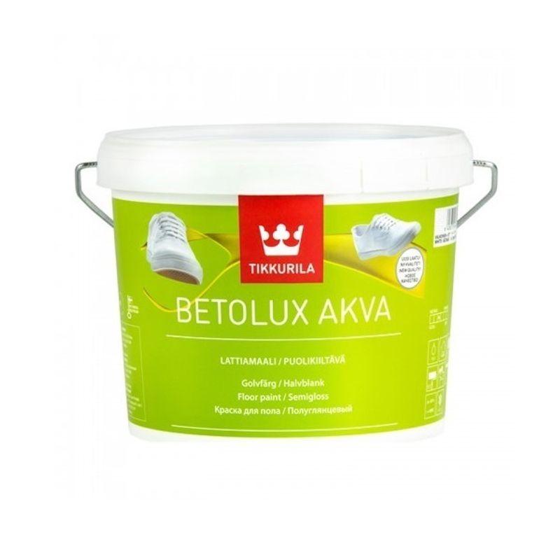 Краска Tikkurila Betolux Akva для пола база С 9л фото