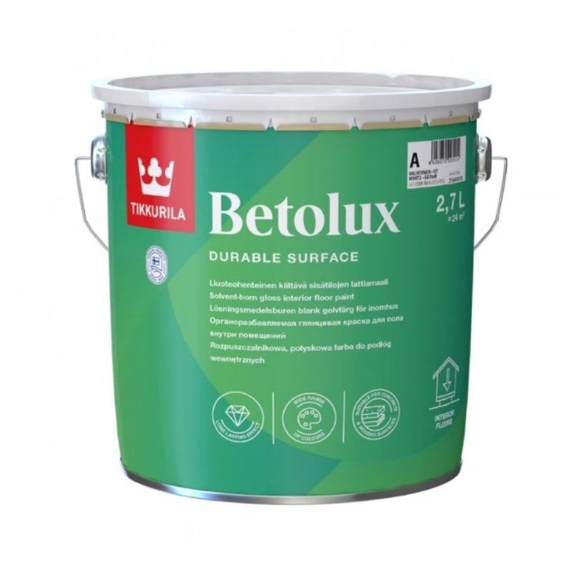 Краска Tikkurila Betolux для пола база А 2.7л фото