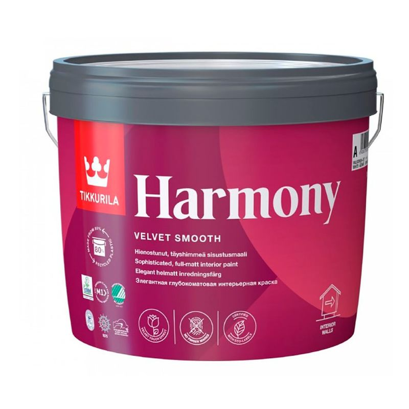 Краска Tikkurila Harmony интерьерная база С 9л фото