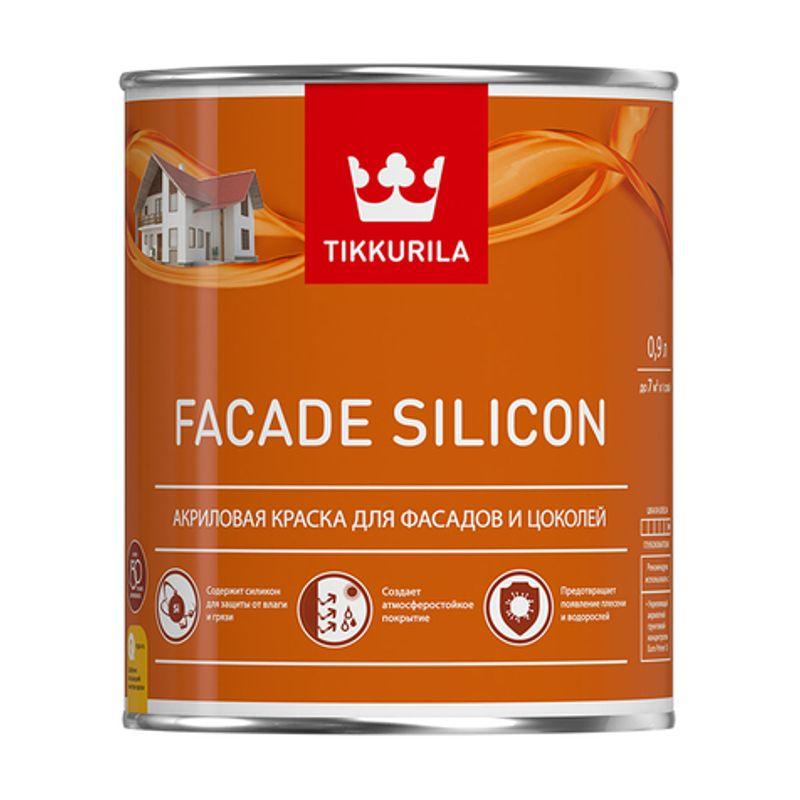 Краска Tikkurila Facade Silicon база С 9л фото