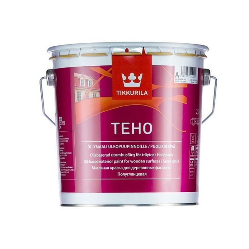 Краска Tikkurila Teho фасадная для дерева масляная база А 2.7л фото