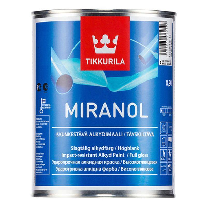 Эмаль для дерева и металла Tikkurila Miranol медная 1л фото