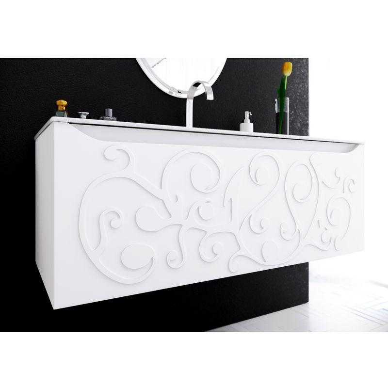 Купить Тумба под раковину Clarberg Elegance 120 Белый (EL.01.12), Россия