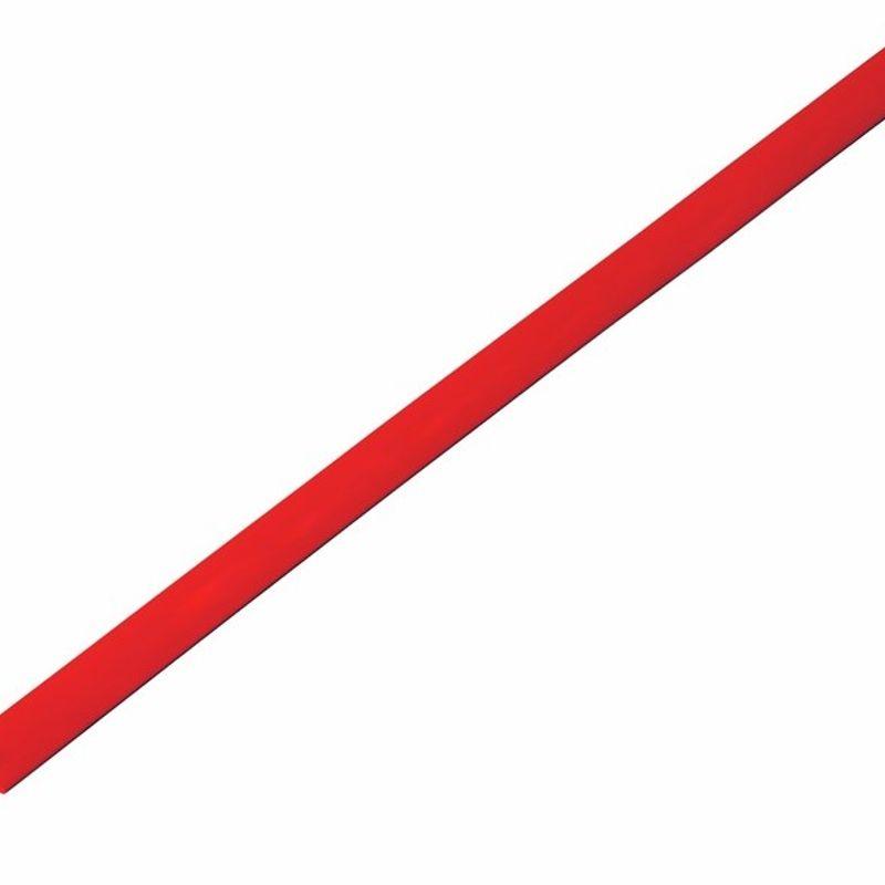 Термоусадка красная 4,0/2,0 мм 1м REXANT фото