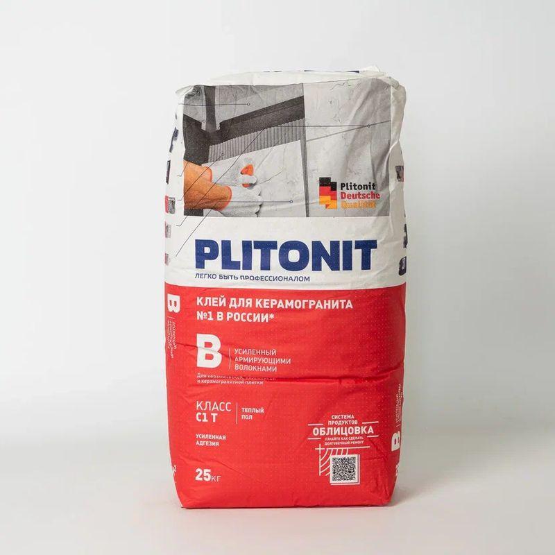 Купить Клей для плитки Плитонит В, 25 кг, Plitonit, Серый