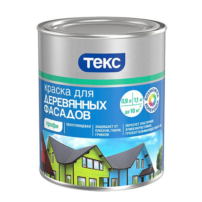 Краска TEKS Профи для деревянных фасадов база A 9л фото