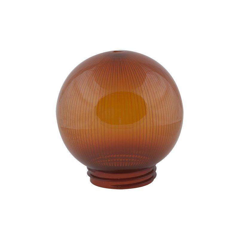 Купить Рассеиватель Uniel UFP-P150A BRONZE призматический (с насечками) в форме шара для садово-парковых светильников