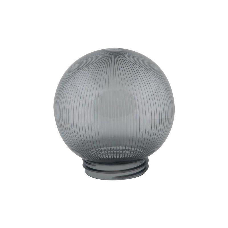 Купить Рассеиватель Uniel UFP-P150A SMOKE призматический (с насечками) в форме шара для садово-парковых светильников