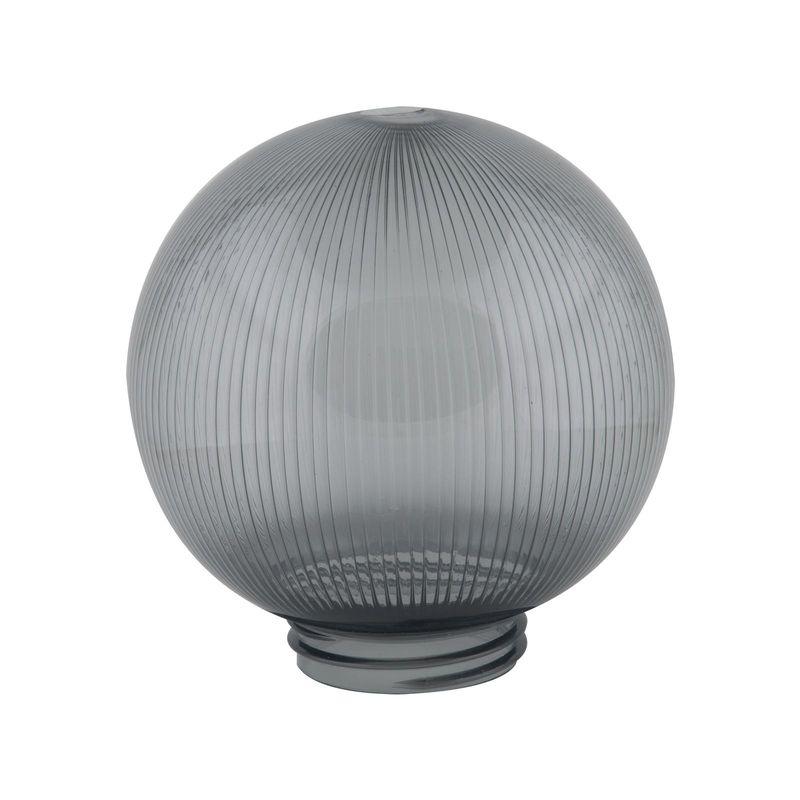 Купить Рассеиватель Uniel UFP-P200A SMOKE призматический (с насечками) в форме шара для садово-парковых светильников