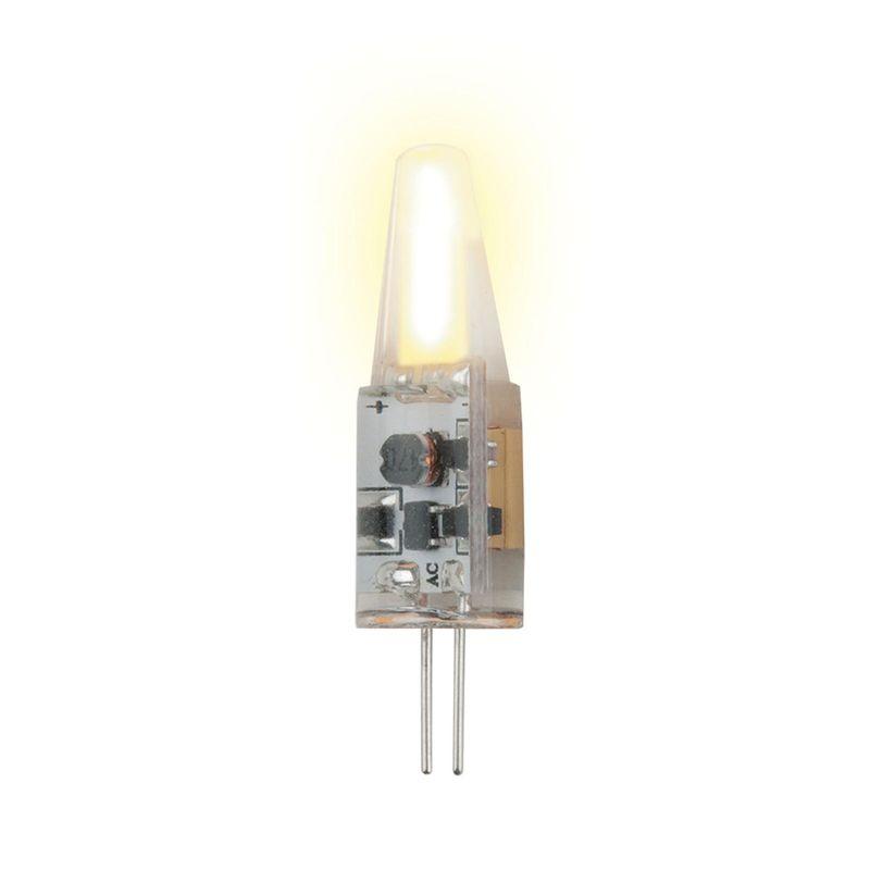 Купить Лампа светодиодная с силиконовым покрытием Uniel LED-JC-220/2W/WW/G4/CL SIZ05TR теплый белый(3000K), Китай