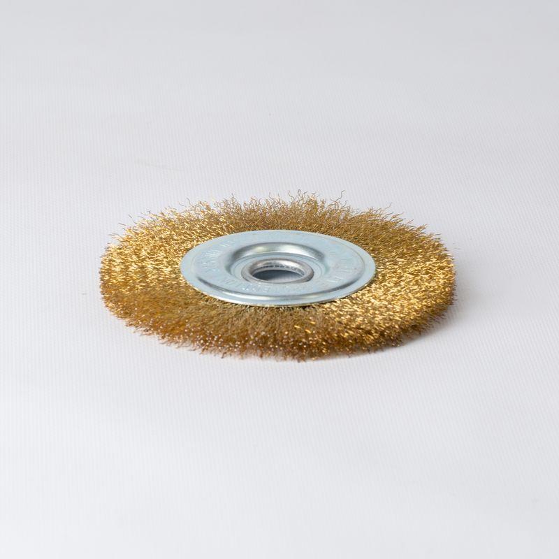Щетка дисковая 150мм/22мм для УШМ, проволока витая латунированная Yoko фото
