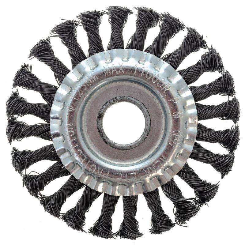Щетка дисковая 125мм/22мм для УШМ, проволока сталь крученая Yoko фото