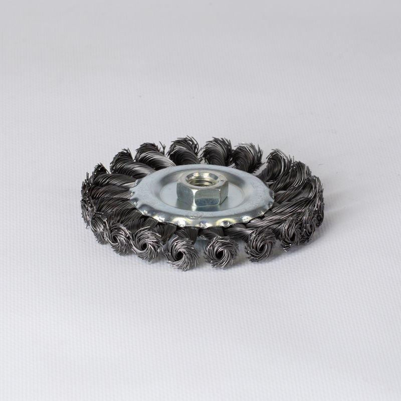 Щетка дисковая 115мм/М14 для УШМ, проволока сталь крученая Yoko фото