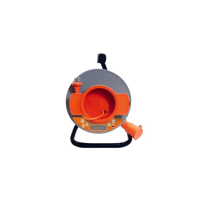 Купить Удлинитель Шу/К50м-10А на катушке 1 гнездо, IP44, ПВС 3х0, 75 (Оранжевый) T.Plast, Россия