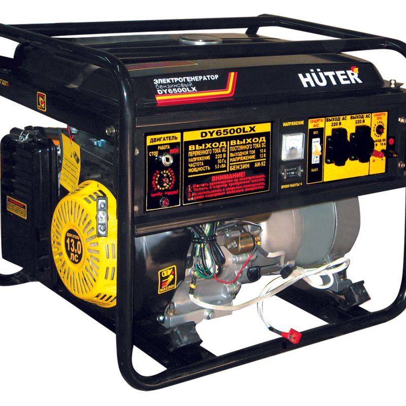 Электрогенератор DY6500LX-электростартер Huter фото