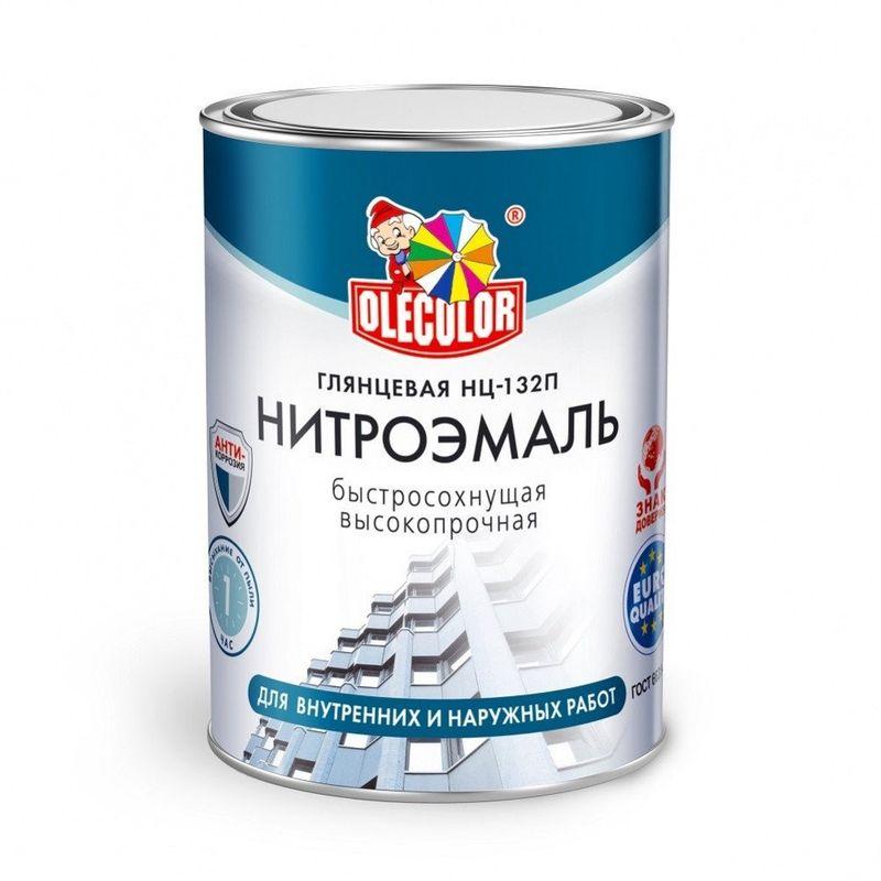Эмаль НЦ-132П черный (0,7 кг) OLECOLOR