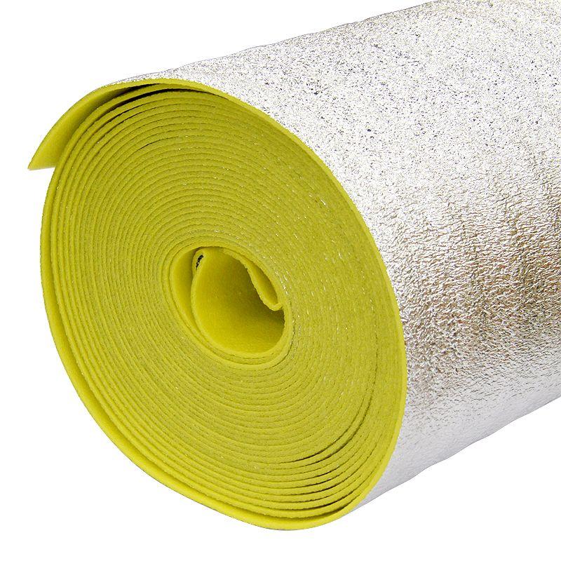 Отражающая теплоизоляция Порилекс НПЭ ЛП тип А 1,2x15мx10мм желтый с разметкой фото