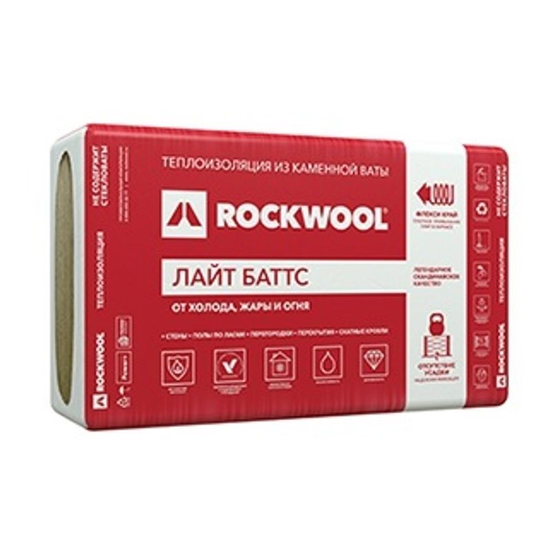 Утеплитель ROCKWOOL Лайт Баттс 1000х600х100 мм 5 штук в упаковке фото