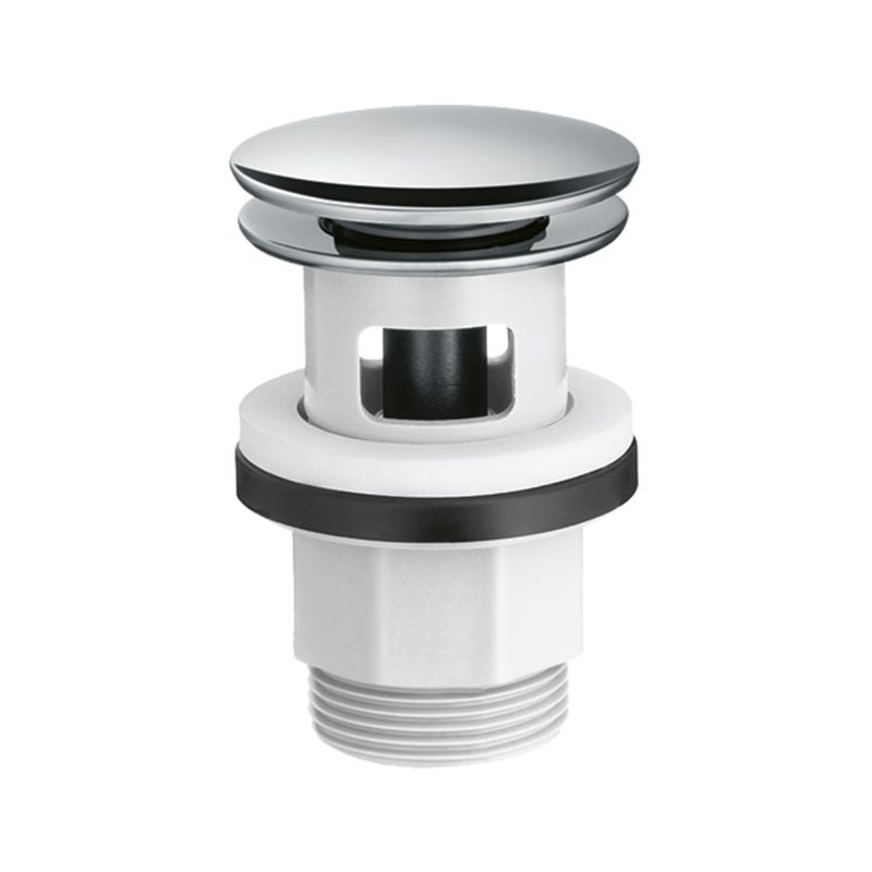 Купить Донный клапан для раковины Hansgrohe 50105000 Push-Open, Хром, Пластик, Германия