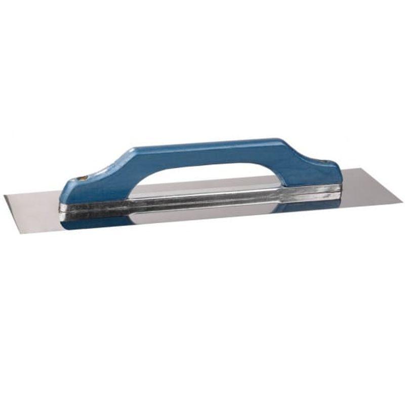 Гладилка нержавеющая прямая с деревянной ручкой STAYER 130 х 480 мм