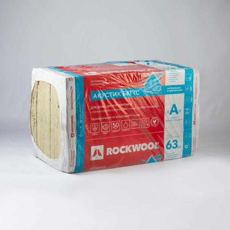 Утеплитель ROCKWOOL Акустик Баттс 1000х600х100 мм 5 штук в упаковке фото