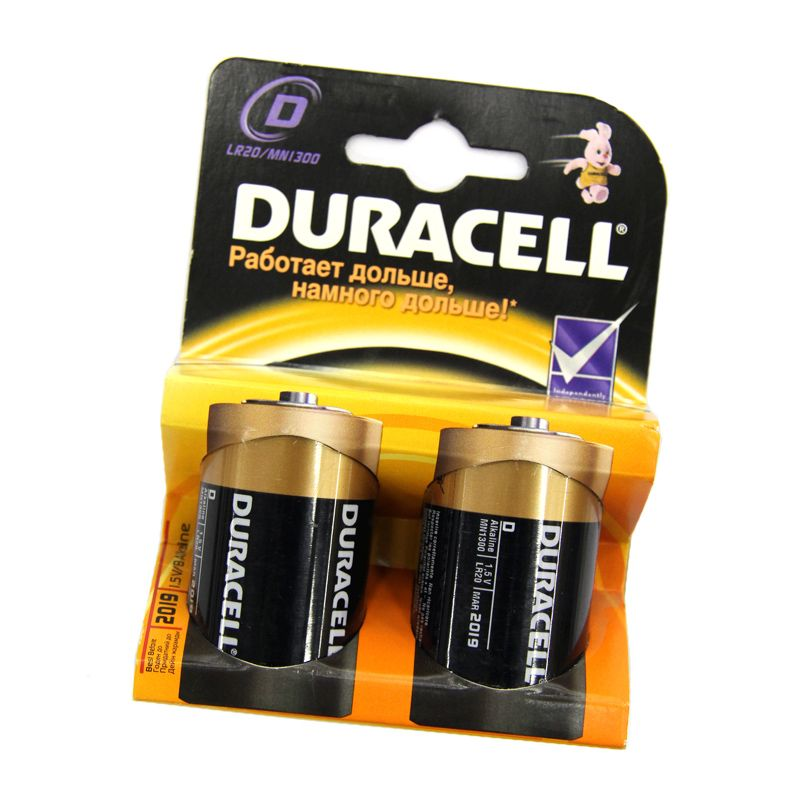 Элемент питания LR-20 DURACELL (2 шт)
