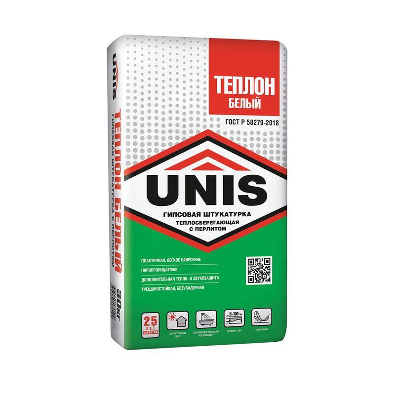 Штукатурка гипсовая UNIS Теплон белая 30 кг