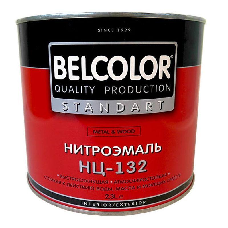 Эмаль НЦ-132 Белколор черная, 1,7 кг фото