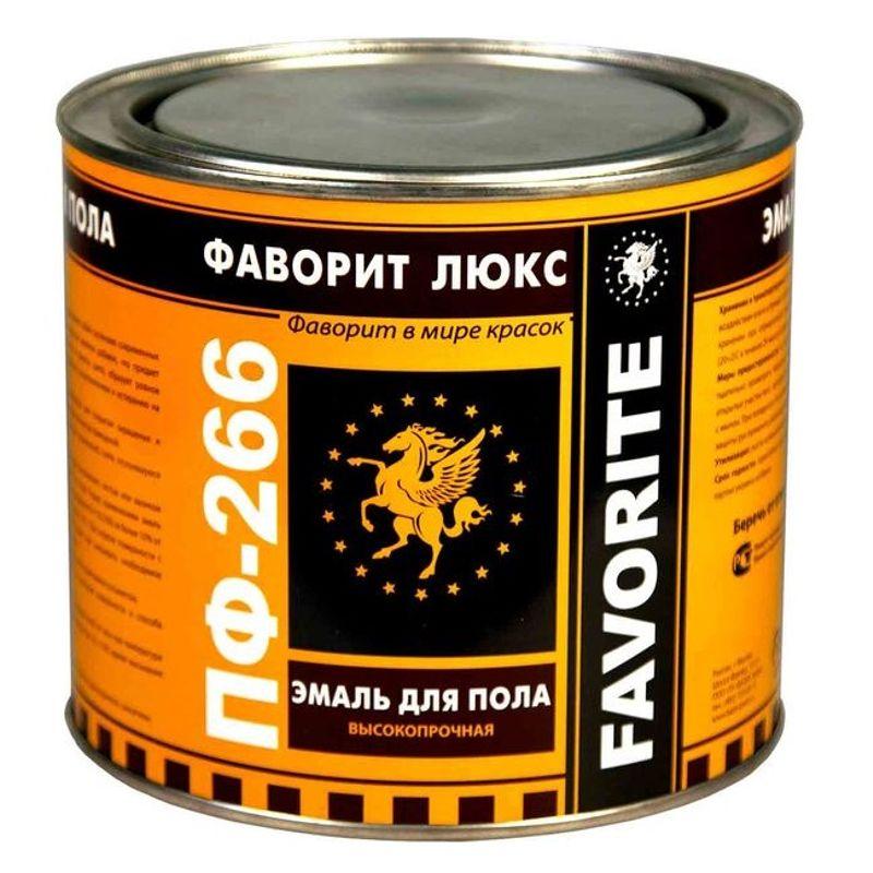 Эмаль ПФ-266 Фаворит золотисто-коричневая 2.4кг фото