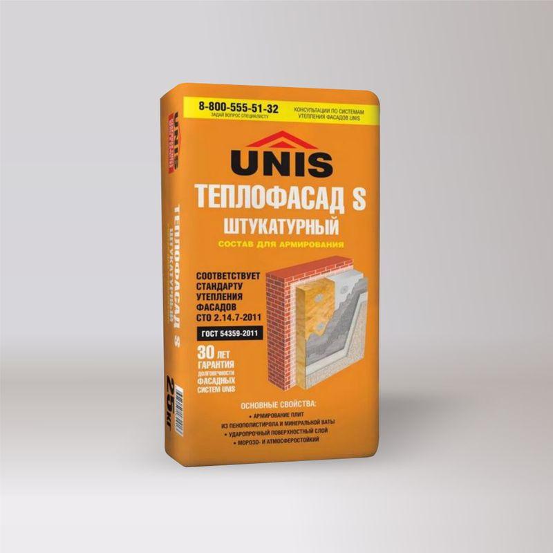 Штукатурка для армирования UNIS Теплофасад S 25 кг фото