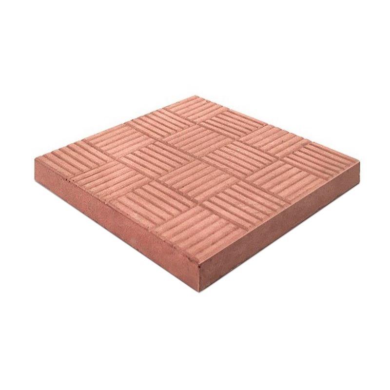 Плитка тротуарная Паркет, 300х300х30мм красный