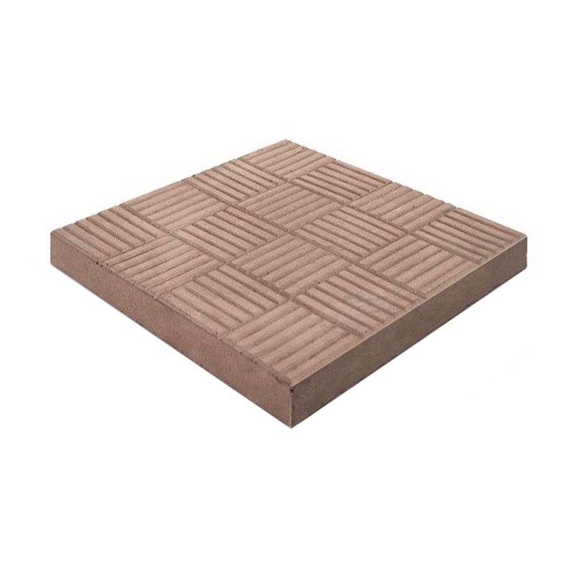 Плитка тротуарная Паркет, 300х300х30мм коричневый