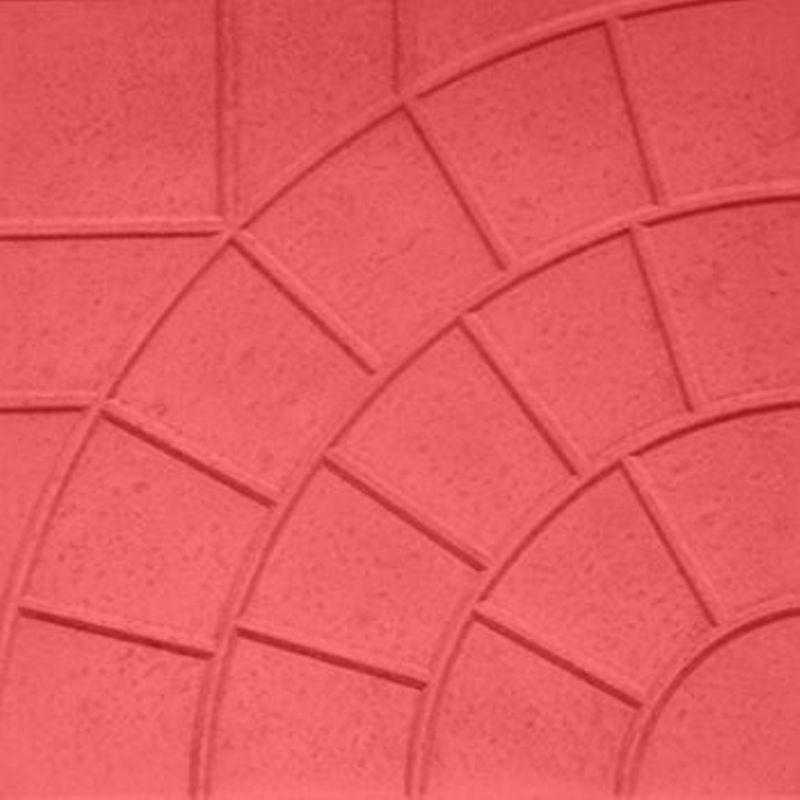 Плитка тротуарная Паутинка, 300х300х30мм красная