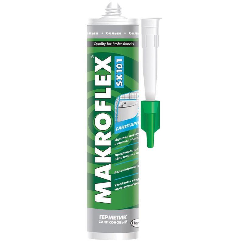 Купить Герметик Макрофлекс Санитарный (белый), 290 мл, Makroflex, Белый