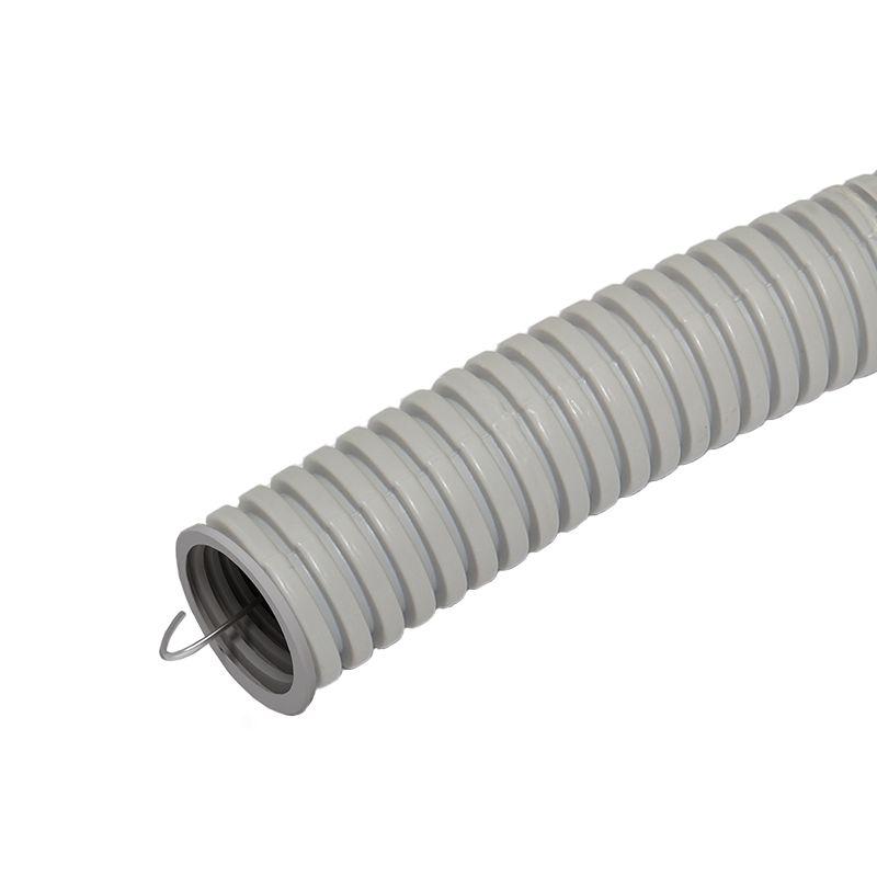 Труба гофрированная ПВХ 25мм с протяжкой лёгкая (50м) Промрукав фото