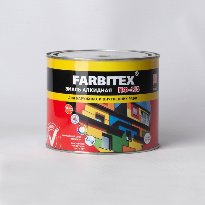 Эмаль ПФ-115 шоколадный (1,8 кг) FARBITEX