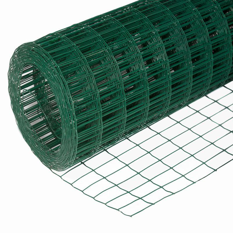 Сетка сварная 50х100мм d=1,6мм, (1,5х20м) в ПВХ фото