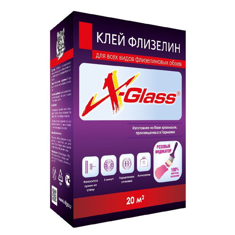 Клей для флизелиновых обоев X-Glass 200гр фото