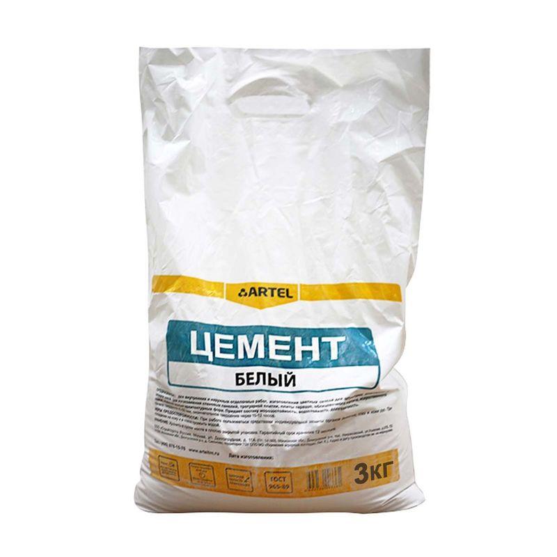 Цемент Артель белый, 3 кг фото