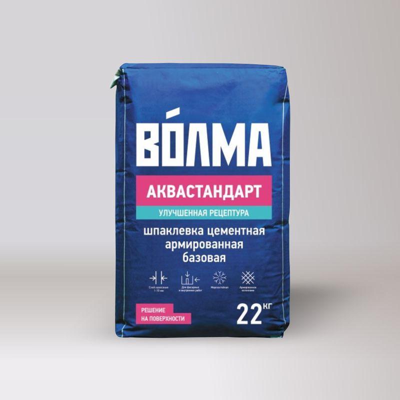 Шпаклевка базовая цементная Волма Аквастандарт 22 кг фото