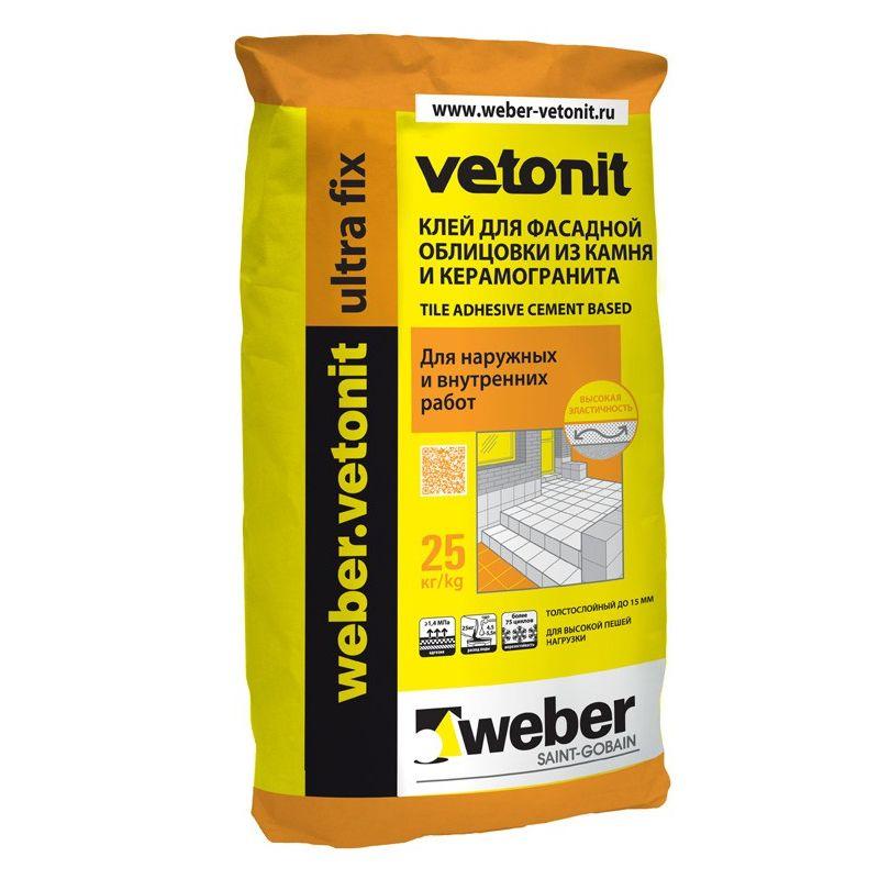 Клей для плитки Weber.Vetonit Ultra fix