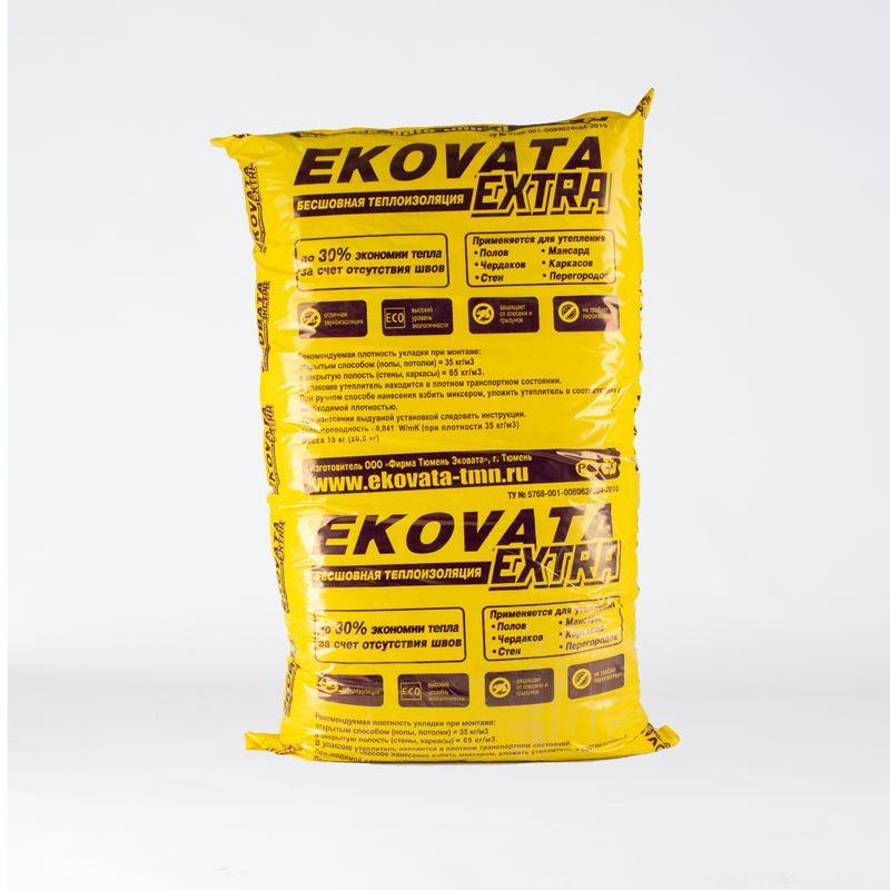 Вата целлюлозная Эковата Экстра 15 кг