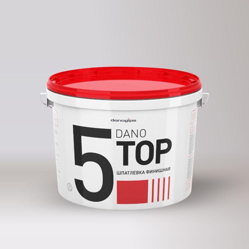 Шпатлевка финишная DanoGIPS Dano Top 5 10 л/165 кг фото