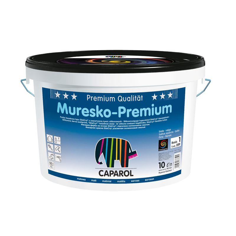 Краска Caparol Muresko Premium фасадная база 3 9.4л фото