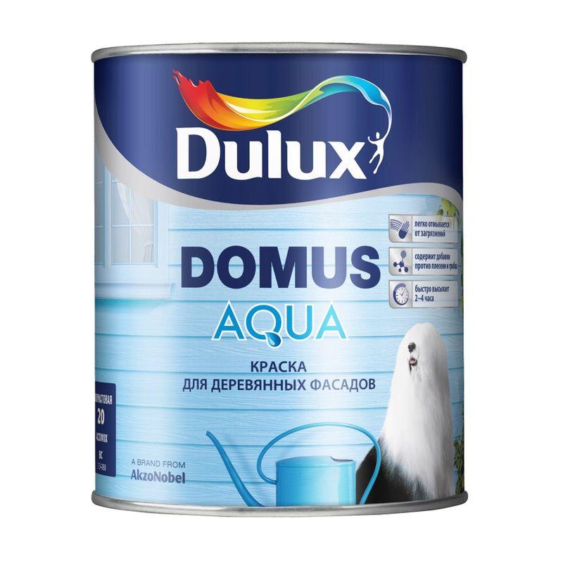 Краска Dulux Domus Aqua фасадная для дерева база BW 1л фото