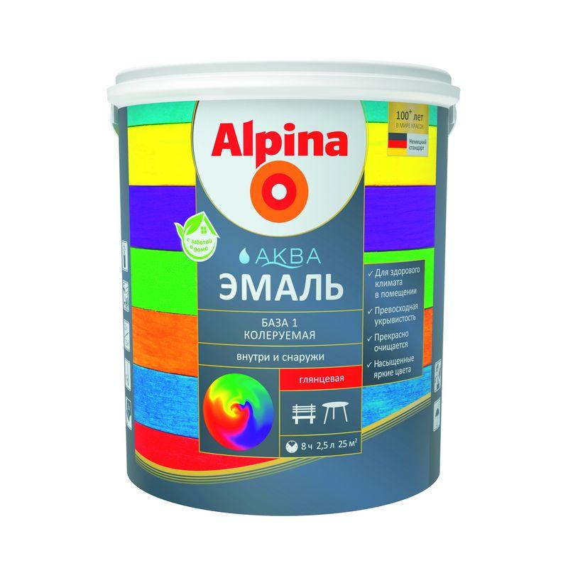 Эмаль Alpina Аква база 1 2.5 л фото