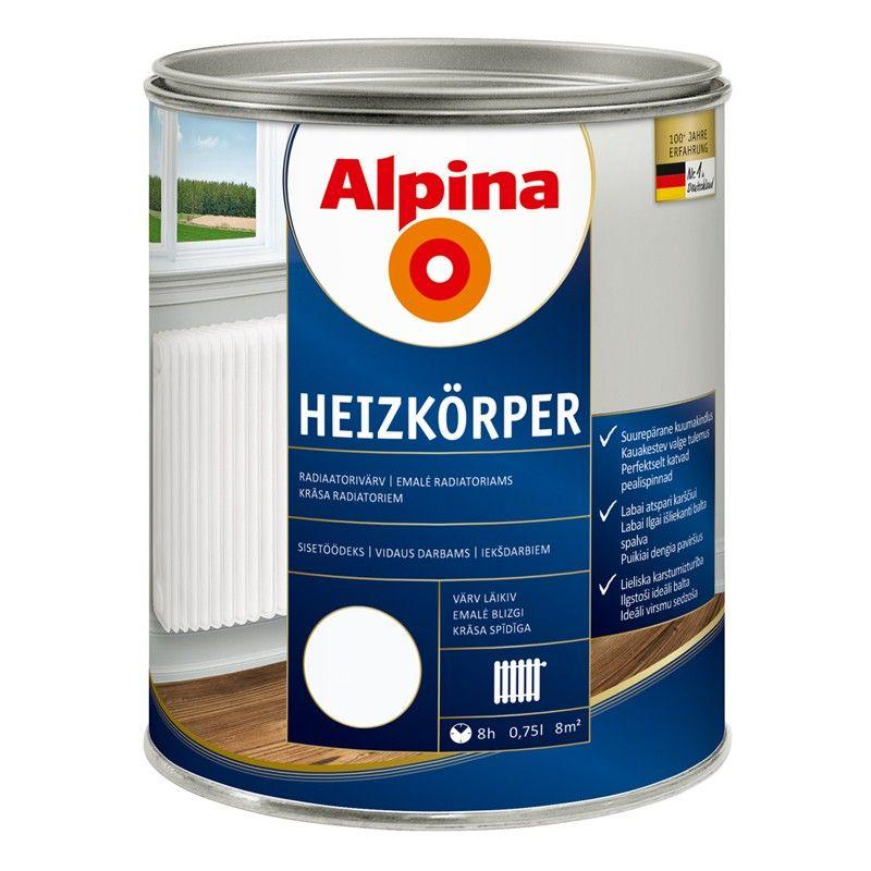 Эмаль Альпина для радиаторов 0.75л фото